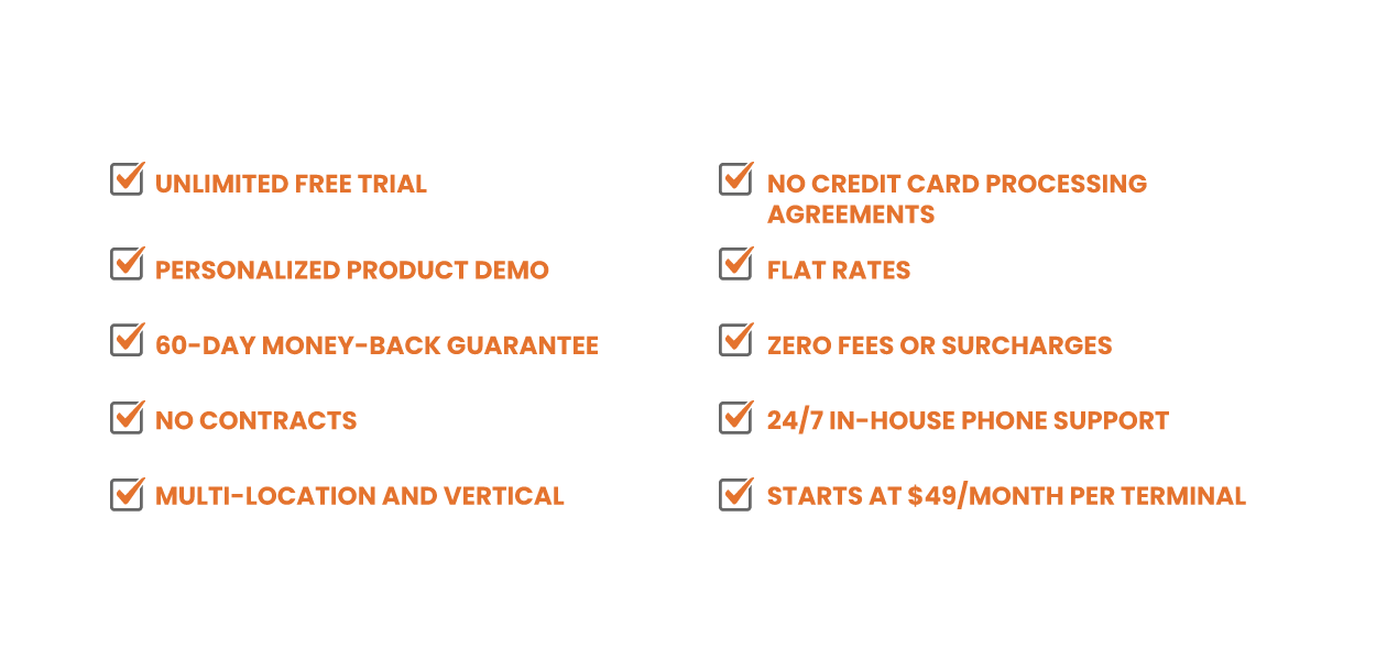 Checklist of KORONA pricing for POS software