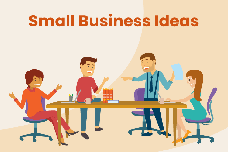 People gather to discuss different small business ideas