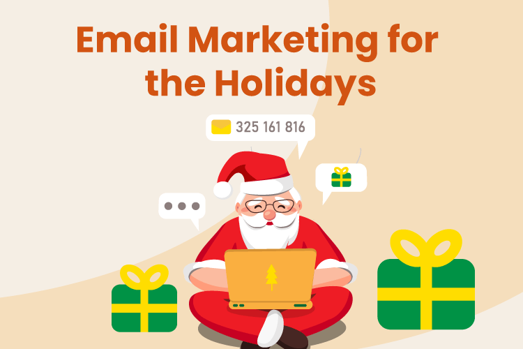 Santa send out and email marketing message for the holidays
