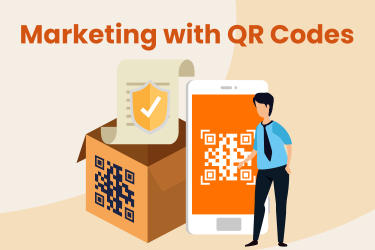 Person scans a QR code for retail marketing