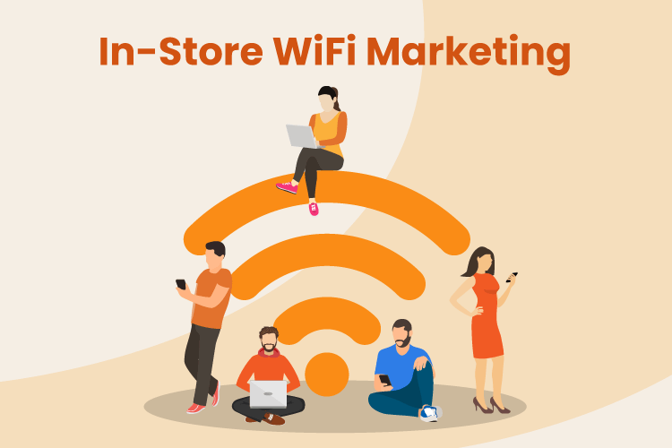 Shoppers log on to WiFi while shopping in a store