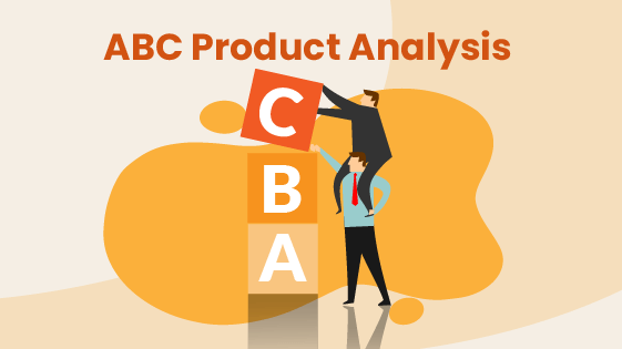 People grade inventory products by ABC retail analysis