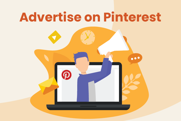Business owner advertises online with Pinterest marketing for small businesses