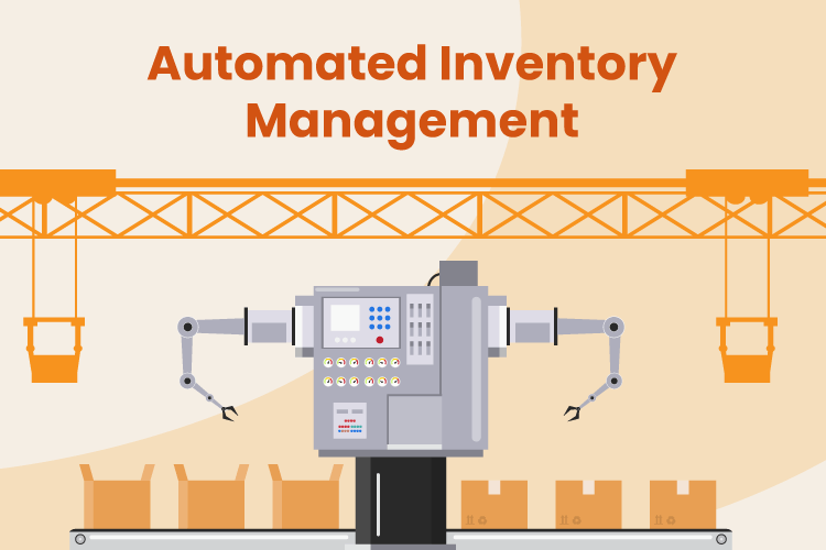 Robot performs automated tasks with inventory management in a warehouse
