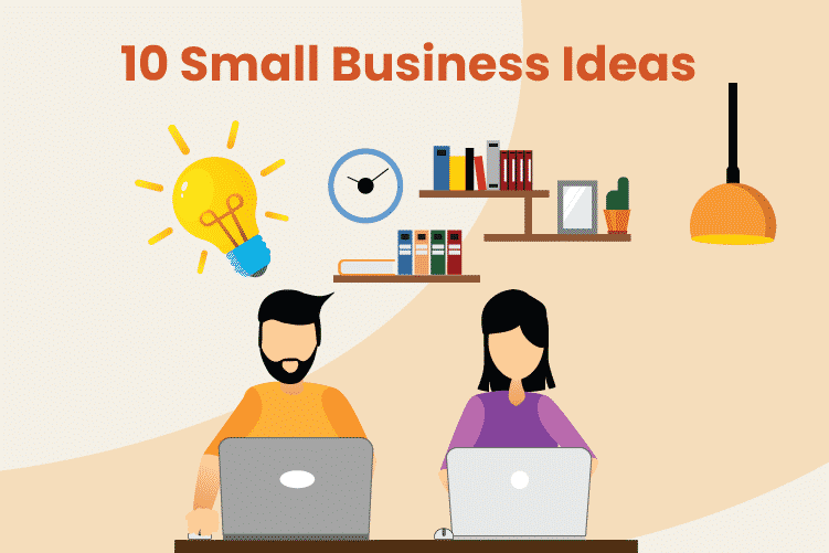 Couple sits at home trying to come up with their top 10 small business ideas to earn extra money