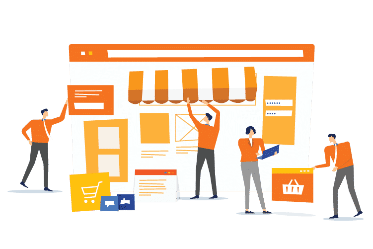 People prepare to open their eCommerce store