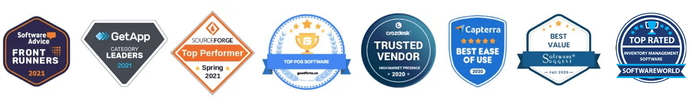 List of various awards that KORONA POS has won from third-party review sites